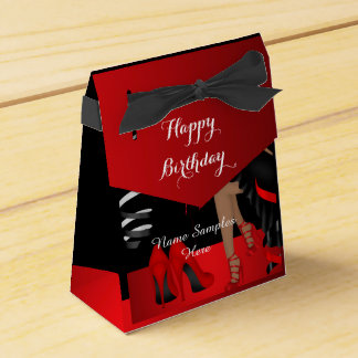 Birthday Party Red Black Shoe High Heels Favour Wedding Favour Box