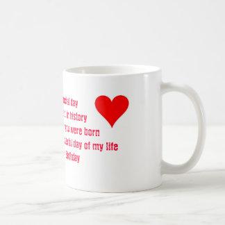 Birthday poem mug