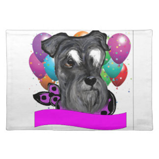 BIRTHDAY SCHNAUZER PLACEMAT