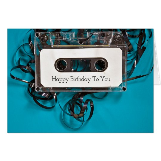 birthday-tangled cassette tape card