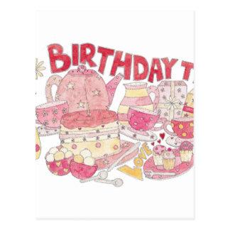 Birthday Tea Postcard