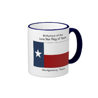 Birthplace of the Lone Star Flag of Texas Ringer Mug