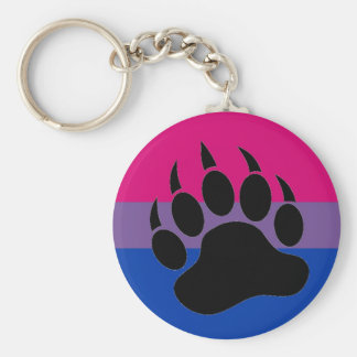 Bisexual Bear Pride Key Ring