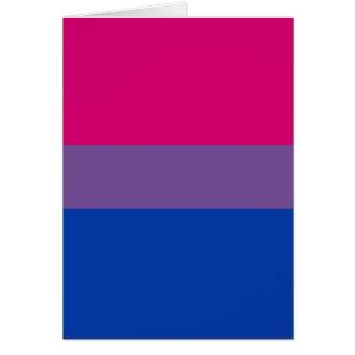 Bisexual flag card