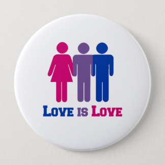 Bisexual Love is Love - 10 Cm Round Badge
