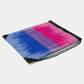 BISEXUAL PRIDE DISTRESSED DESIGN DRAWSTRING BAG