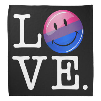 Bisexuality Flag inside the Word Love Bandana