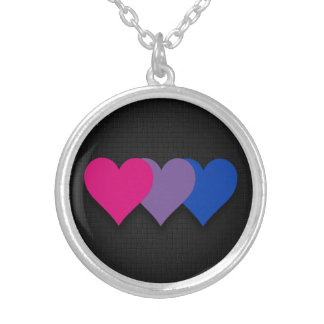 Bisexuality pride hearts Necklace
