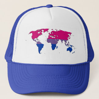 Bisexuality pride world map Hat