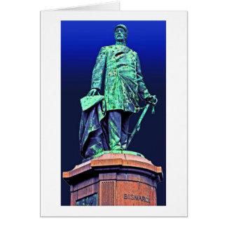 Bismarck Memorial, Berlin, Blue Back Card