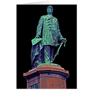Bismarck Statue, Berlin, Black Back(bs4) Card
