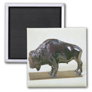 Bison, 1907 refrigerator magnet