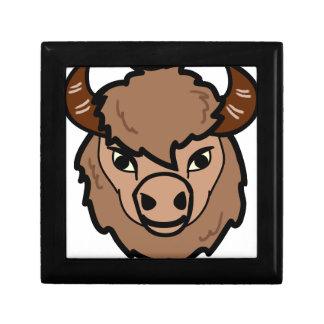 bison face art gift box