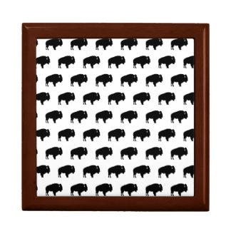 bison pattern gift box