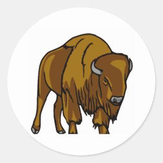 Bison Round Sticker