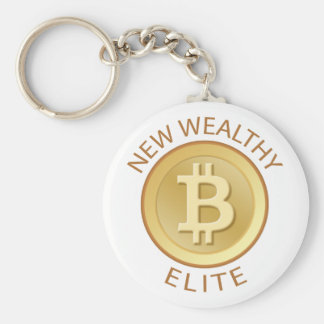 Bitcoin - New Wealthy Elite Basic Round Button Key Ring