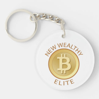 Bitcoin - New Wealthy Elite Key Ring