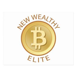Bitcoin - New Wealthy Elite Postcard