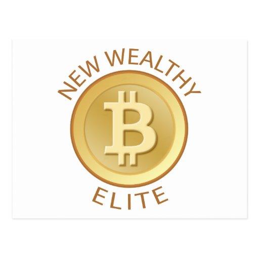 Bitcoin - New Wealthy Elite Postcards