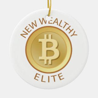 Bitcoin - New Wealthy Elite Round Ceramic Decoration