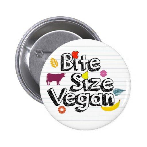 Bite Size Vegan Button New Logo