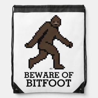 Bitfoot (the 8-bit Bigfoot) Drawstring Bag