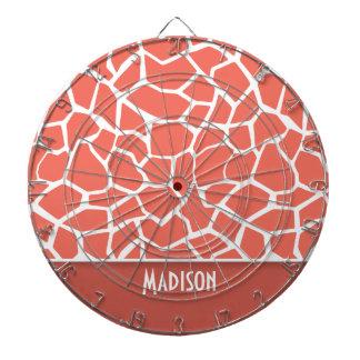 Bittersweet Color Giraffe Print; Personalized Dart Boards