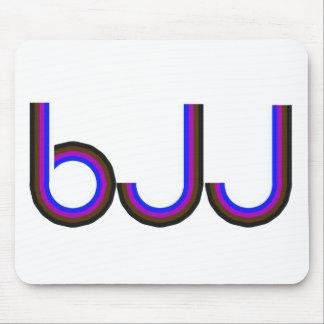 BJJ - Brazilian Jiu Jitsu - Colored Letters Mouse Pad