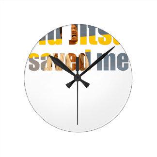 BJJ Saved Me Round Clock