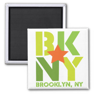 BK Brooklyn Green Magnet