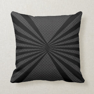 Black Abstract and Black Dots Designed Throw Pillow