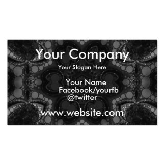 Black Abstract Pack Of Standard Business Cards