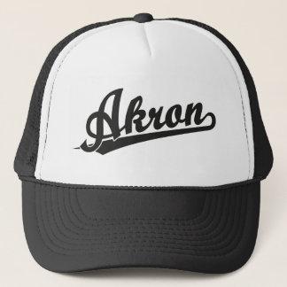 Black Akron Trucker Hat