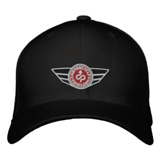 Black all-cap with red embroidered MCR logo Embroidered Hats