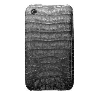 Black Alligator Skin #1b iPhone 3 Case-Mate Cases