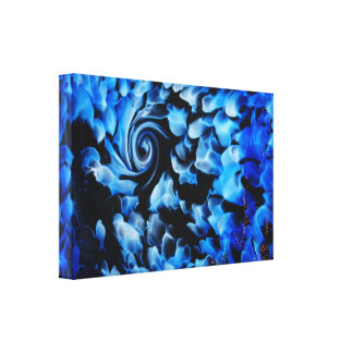 black and blue abstract swirl canvas print