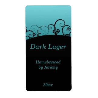 Black and Blue Beer Label