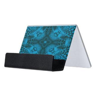 Black And Blue Colorful Desk Business Card Holder