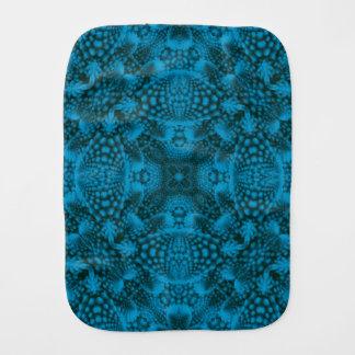 Black And Blue Kaleidoscope Burp Cloth