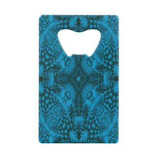 Black And Blue Kaleidoscope   Credit Card Openers
