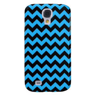 Black and Blue Zig Zag Pattern Galaxy S4 Case