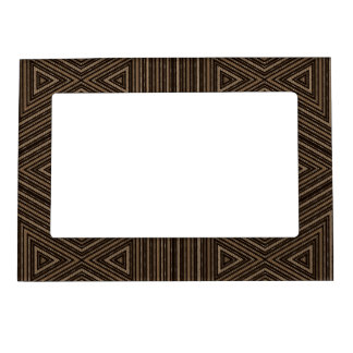 Black and Brown Bamboo Look Pattern Magnetic Picture Frame