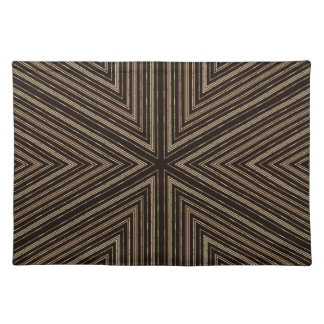 Black and Brown Bamboo Look Pattern Placemat