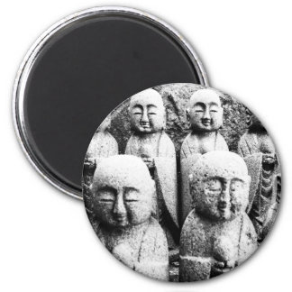 Black and Buddha Statues Magnet