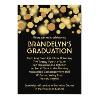 Black and Gold Celebration Graduation Announcement