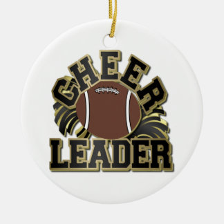 Black and Gold Cheerleader One-Sided Ornament