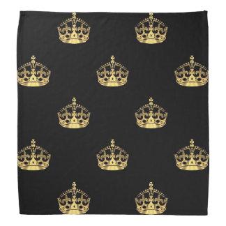 Black and gold crown pattern bandana