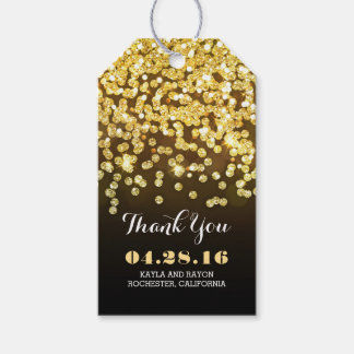 Black and Gold Diamonds Wedding Thank You Gift Tags