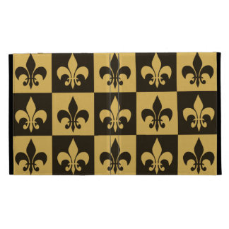 Black and Gold Fleur de lis iPad Cases