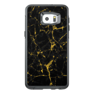 Black And Gold Marble Stone Texture OtterBox Samsung Galaxy S6 Edge Plus Case